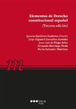 capa do livro Elementos de Derecho constitucional español