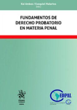 capa do livro fundamentos de derecho probatorio en material penal