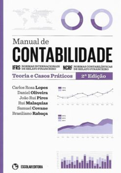 Capa do livro Manual de Contabilidade Teoria e Casos Práticos