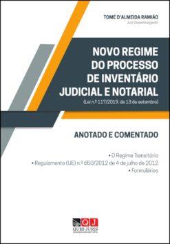 Capa do livro Novo Regime do Processo de Inventário Judicial e Notarial Anotado e Comentado