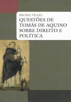 capa do livro questões de tomas de aquino obre direito e política