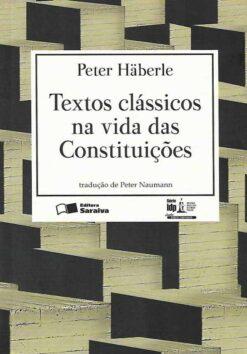 capa do livro textos classicos na vida das constituicoes