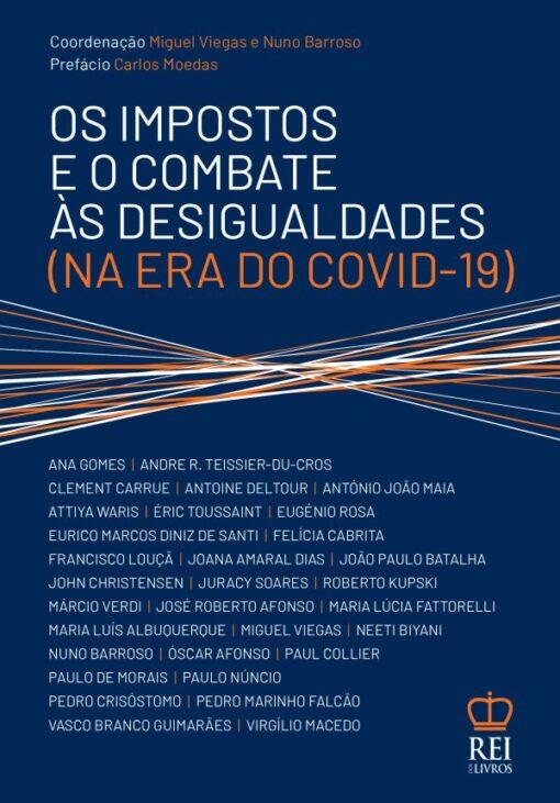Capa do Livro os Impostos e o Combate às Desigualdades na era do Covid-19