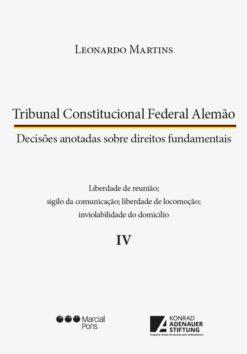 Capa do livro Tribunal Constitucional Federal Alemão Vol IV