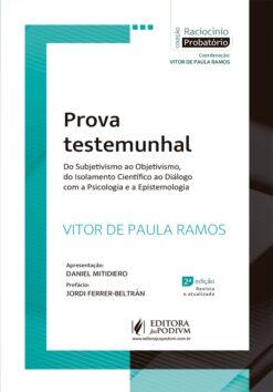 Capa do livro Prova Testemunhal